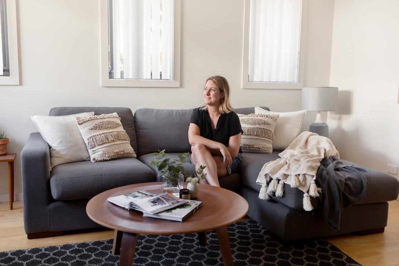 Interior Designer Michelle Canny in Living Room