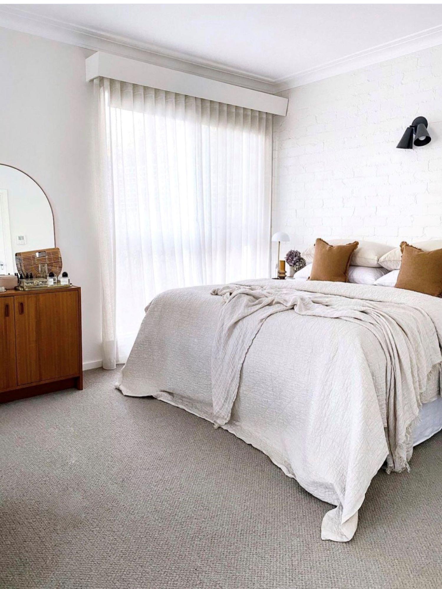 Interior designer Bettina Brent mid century inspired bedroom