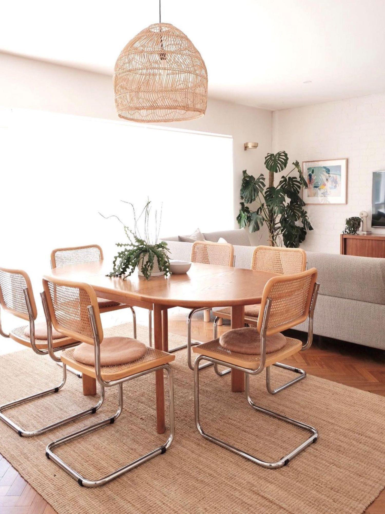 Interior designer Bettina Brent mid century inspired dining room