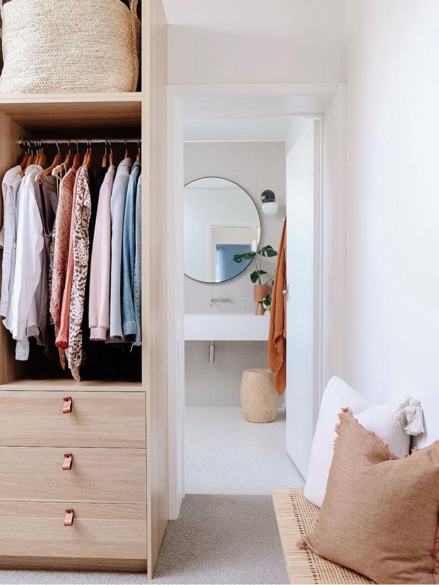 Interior designer Bettina Brent wardrobe and ensuite