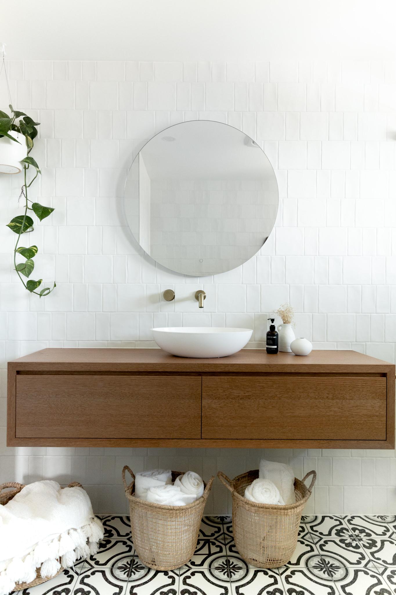 Bone + Blanc Bathroom Renovation - Handmade tiles