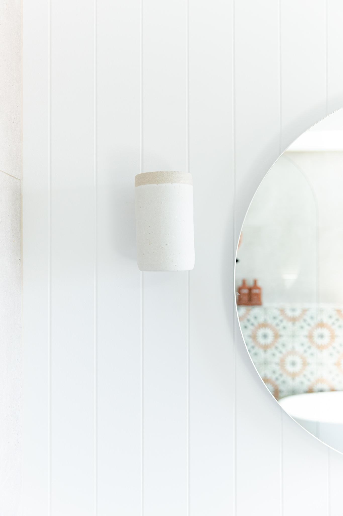 Bone + Blanc Bathroom Renovation - Wall Light