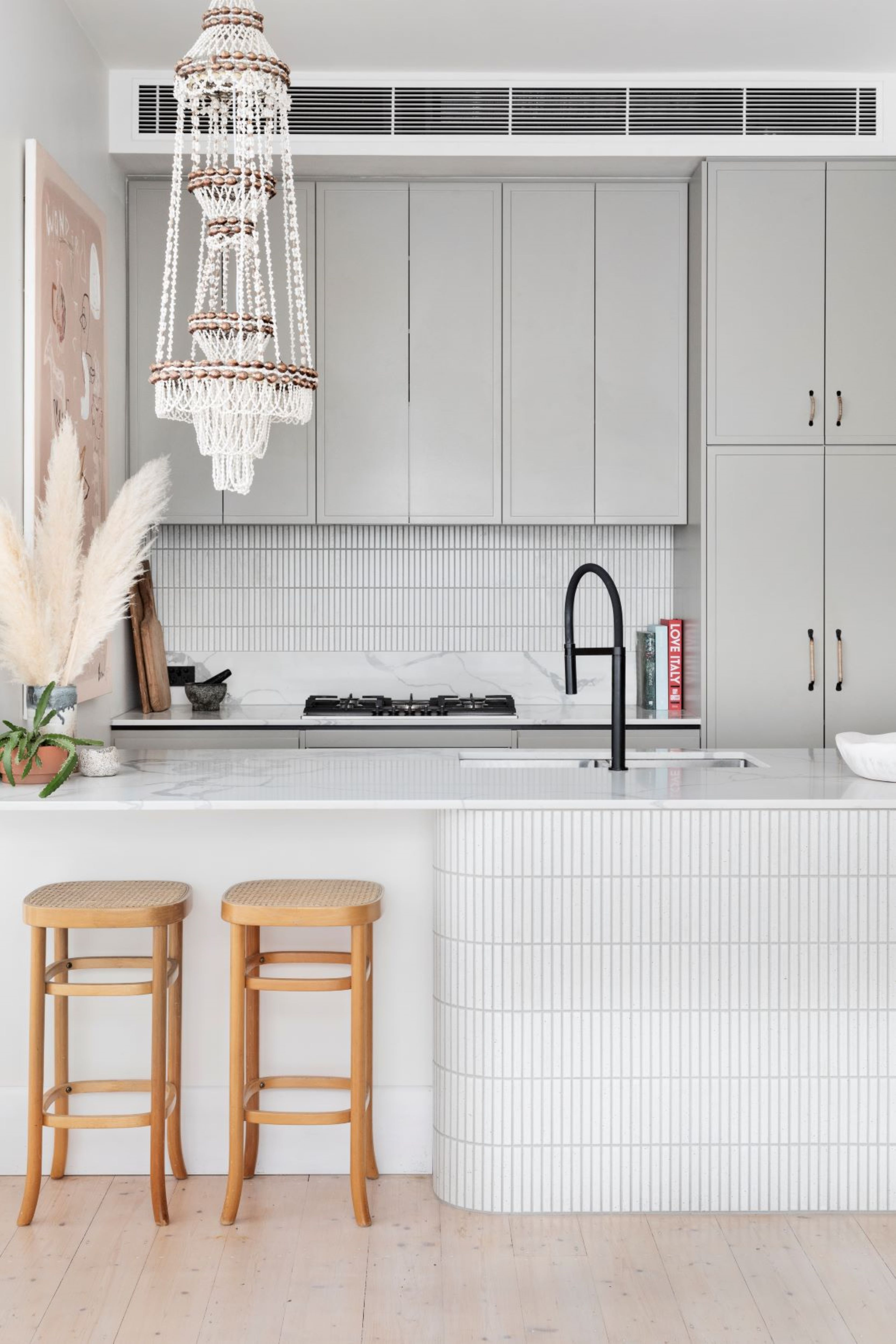 Alison Lewis Interiors Cecil St Project Kitchen Island Bench