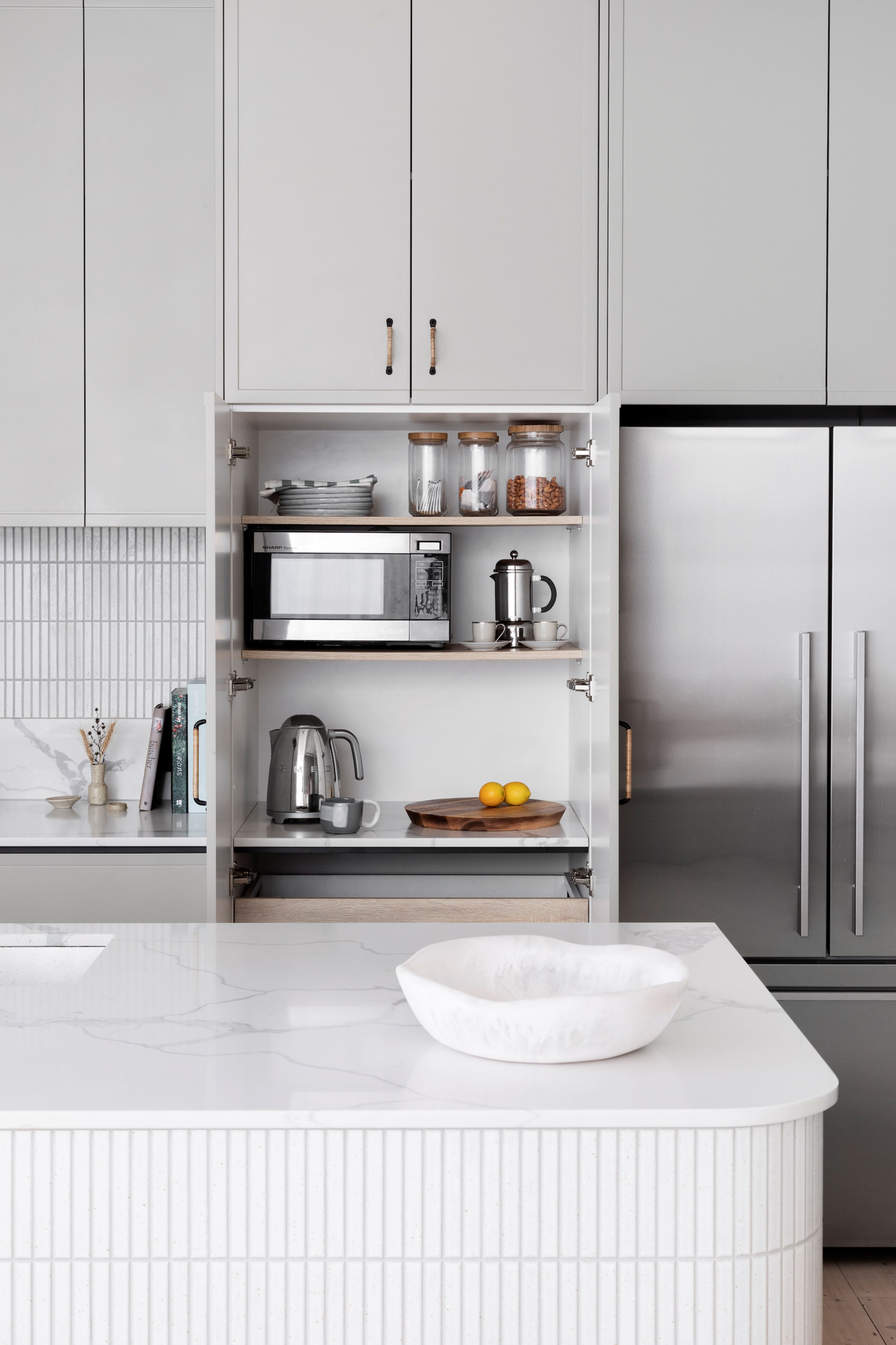 Alison Lewis Interiors Cecil Street Project Kitchen Appliance Cupboard