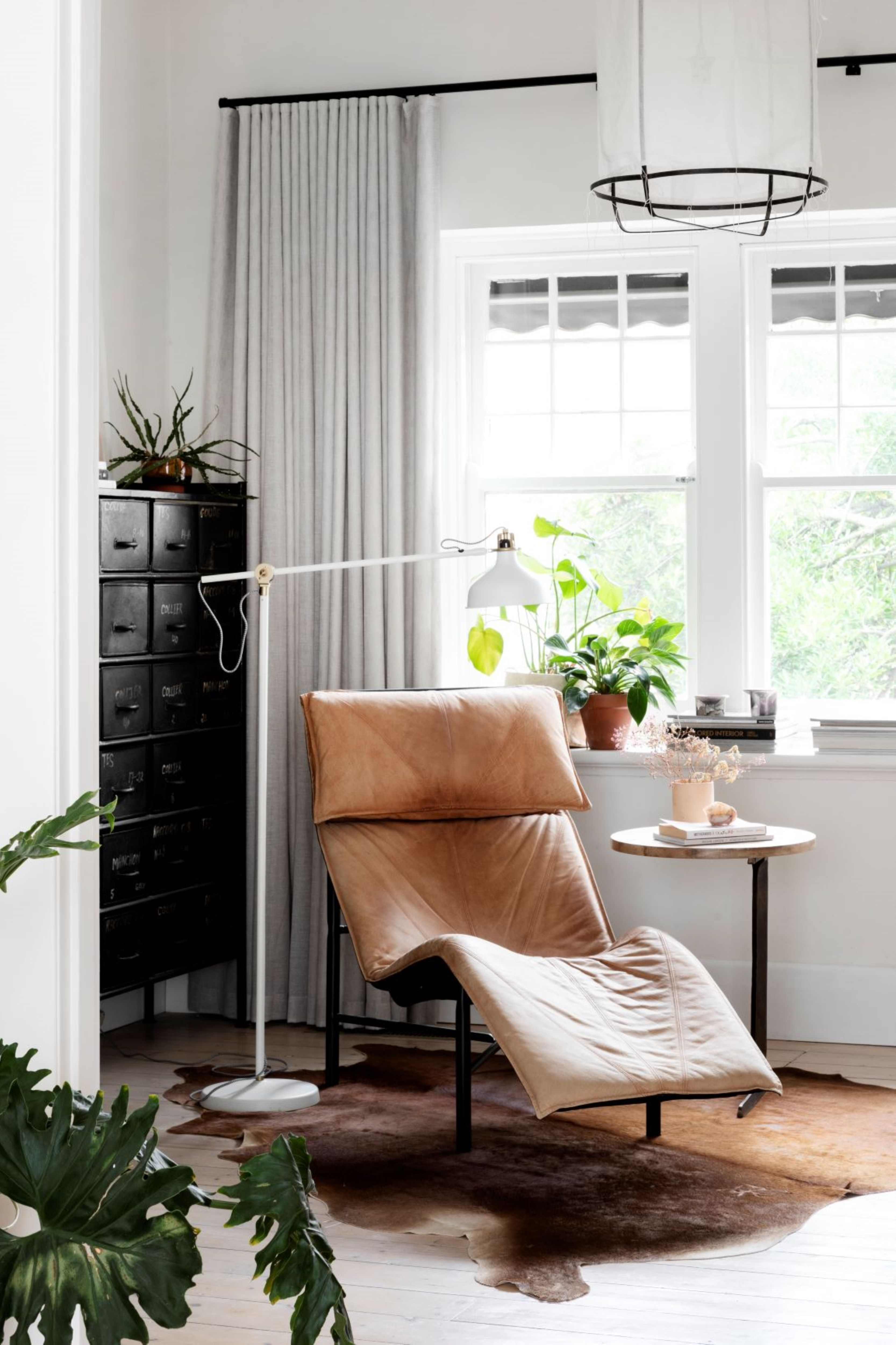 Alison Lewis Interiors Cecil Street Project Leather Armchair