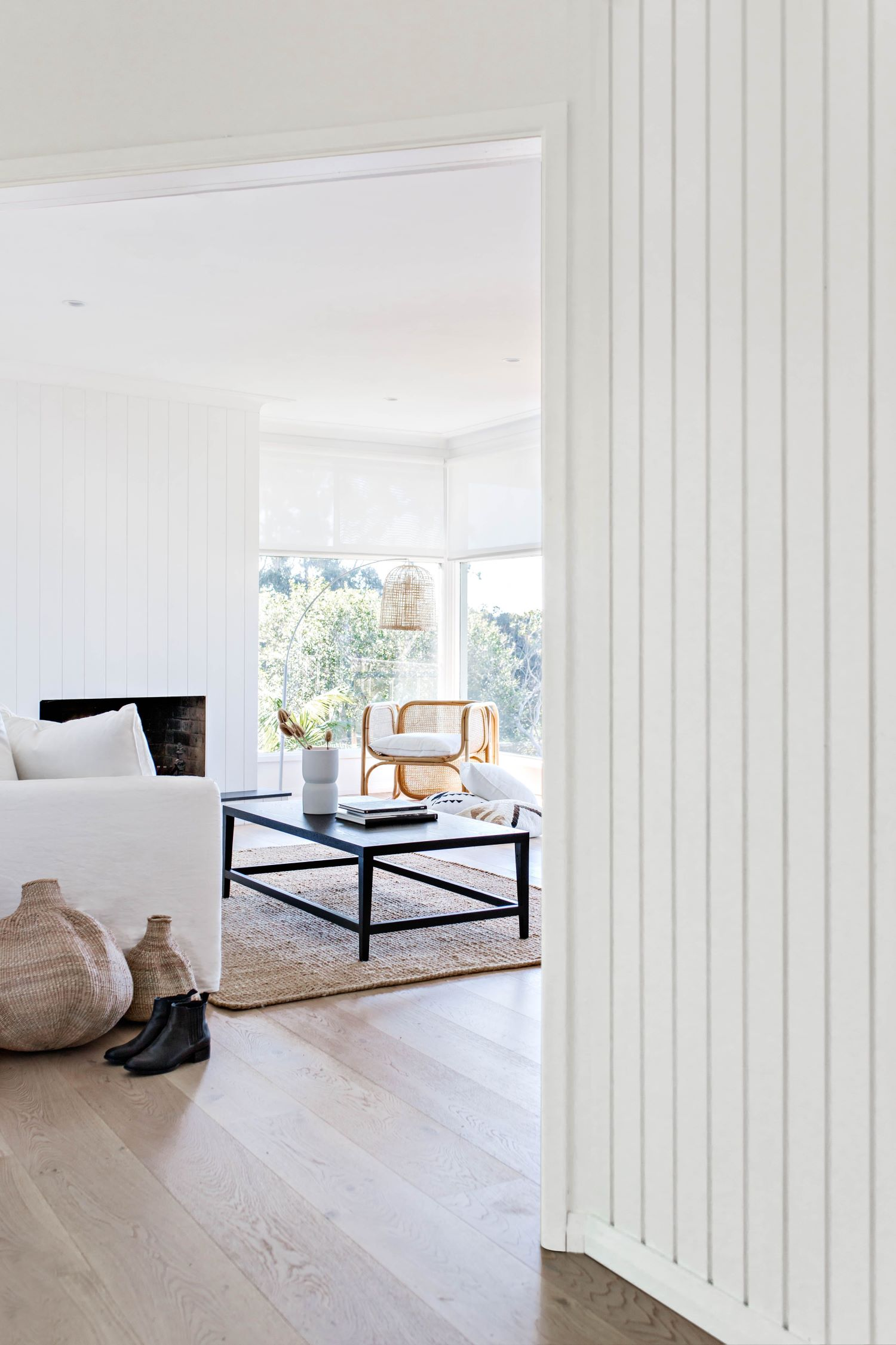 coastal style guide - living room wall panelling