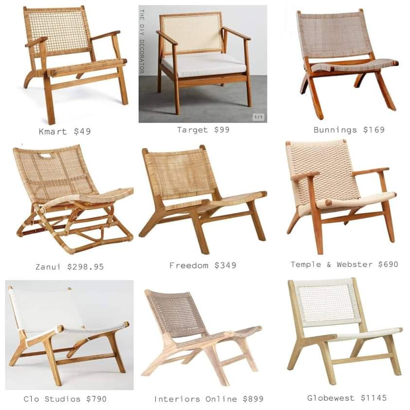 Zoe Gilpin from The DIY Decorator Affordable Chairs