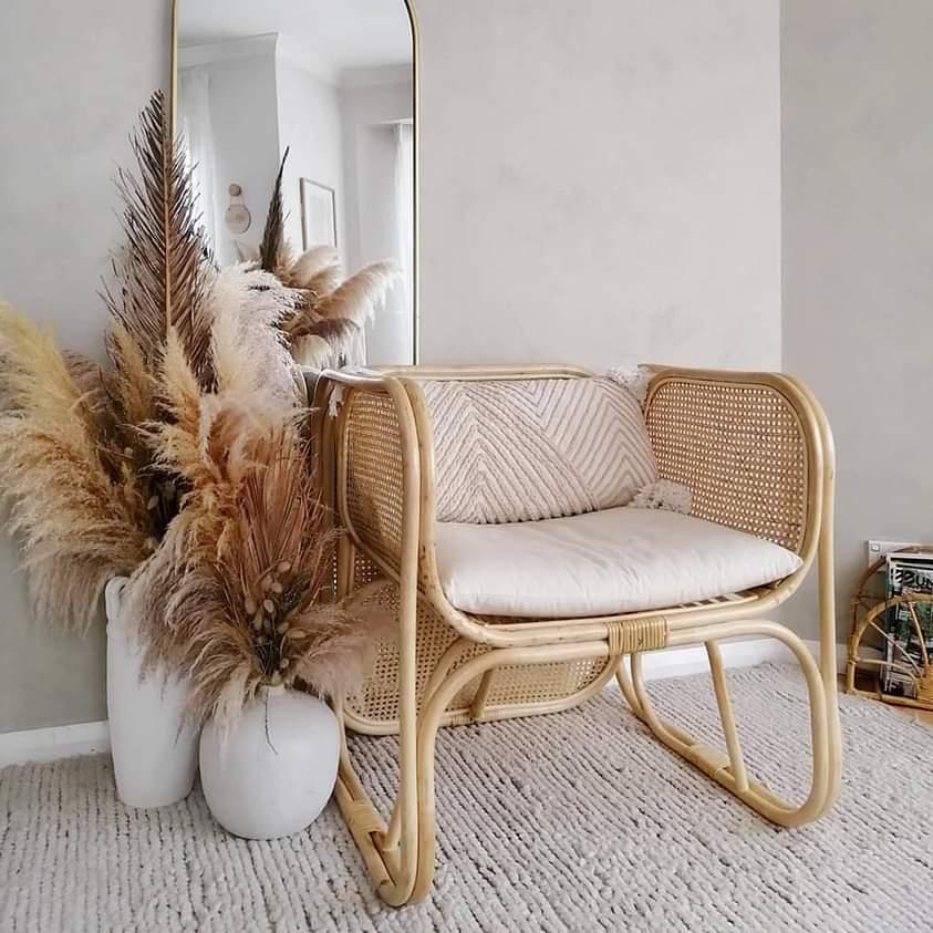 Zoe Gilpin from The DIY Decorator Rattan Armchair