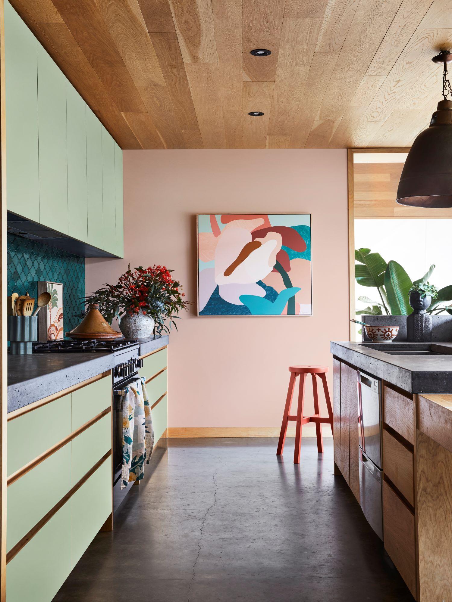 Dulux Colour Forecast Reset Kitchen With Pops of Colour