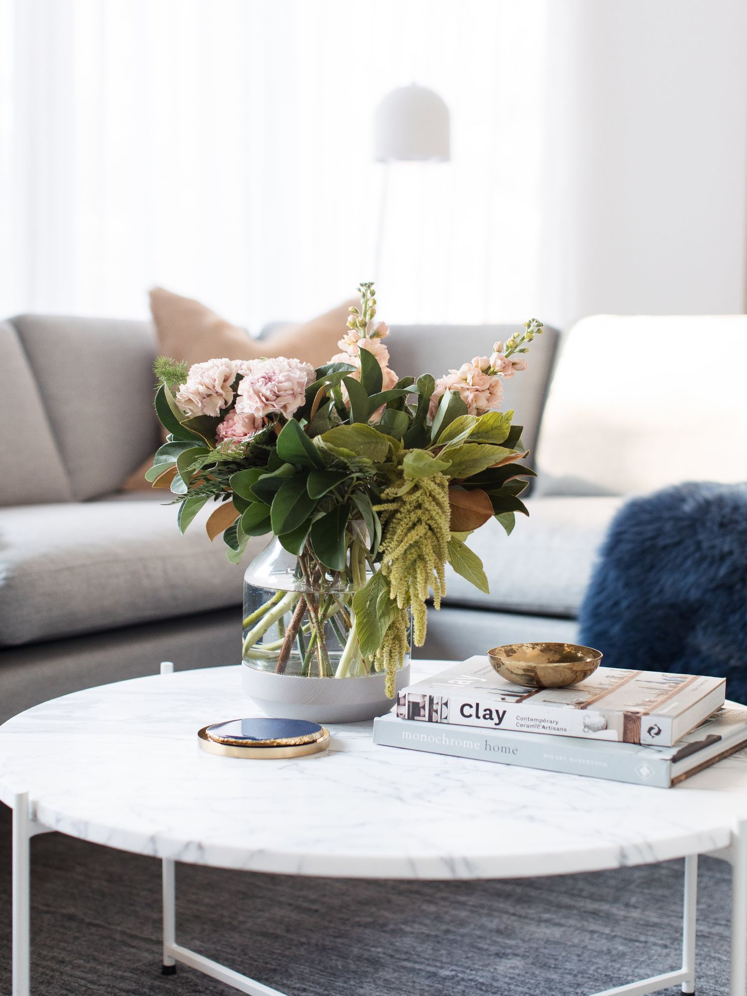 Interior Stylist Gina from Style Curator Coffee Table Floral