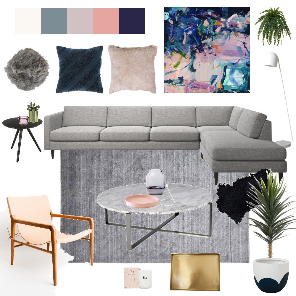 Gina from Style Curator Contemporary Living Room Mood Board