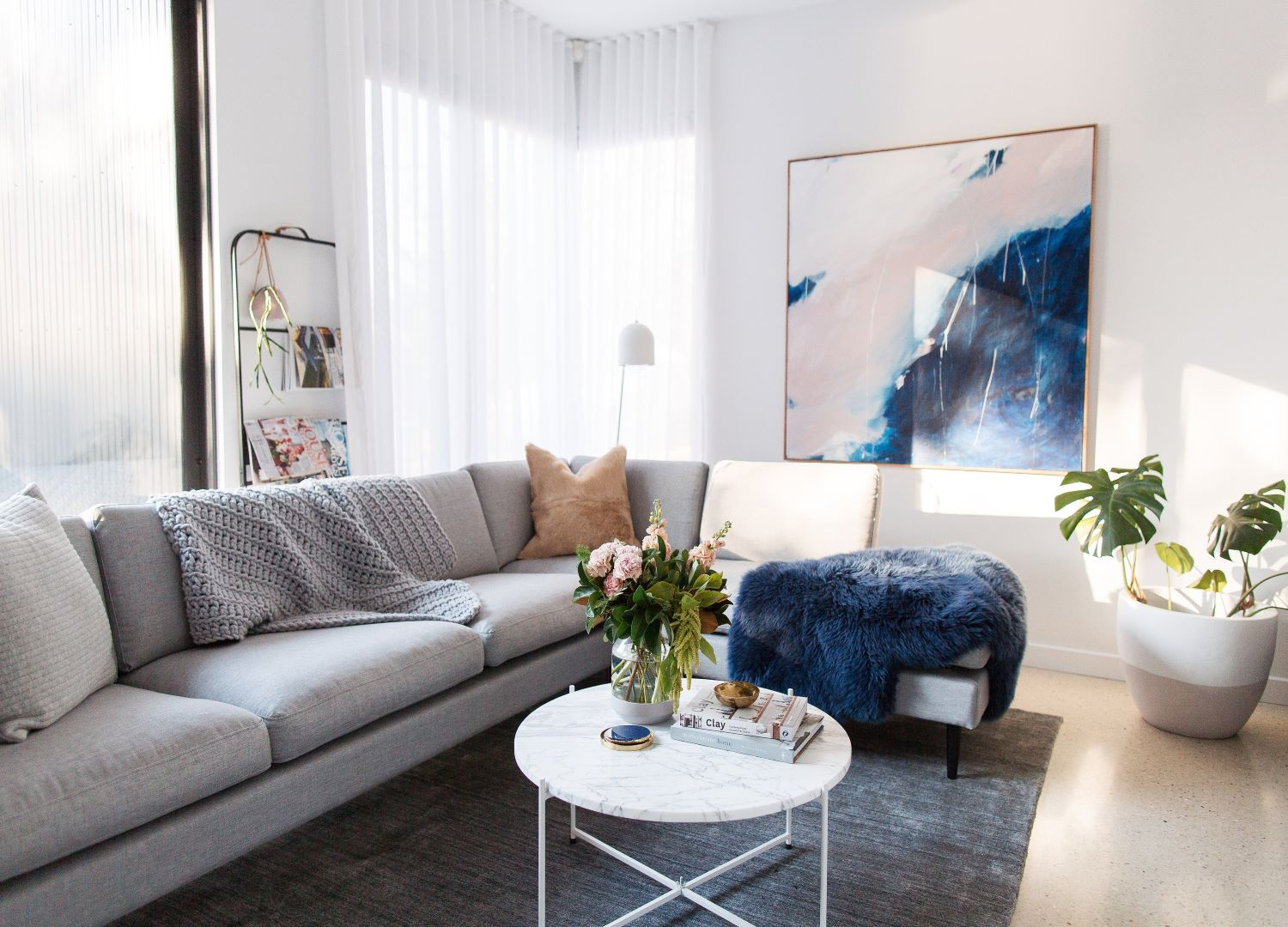 interior Stylist Gina from Style Curator Living Room