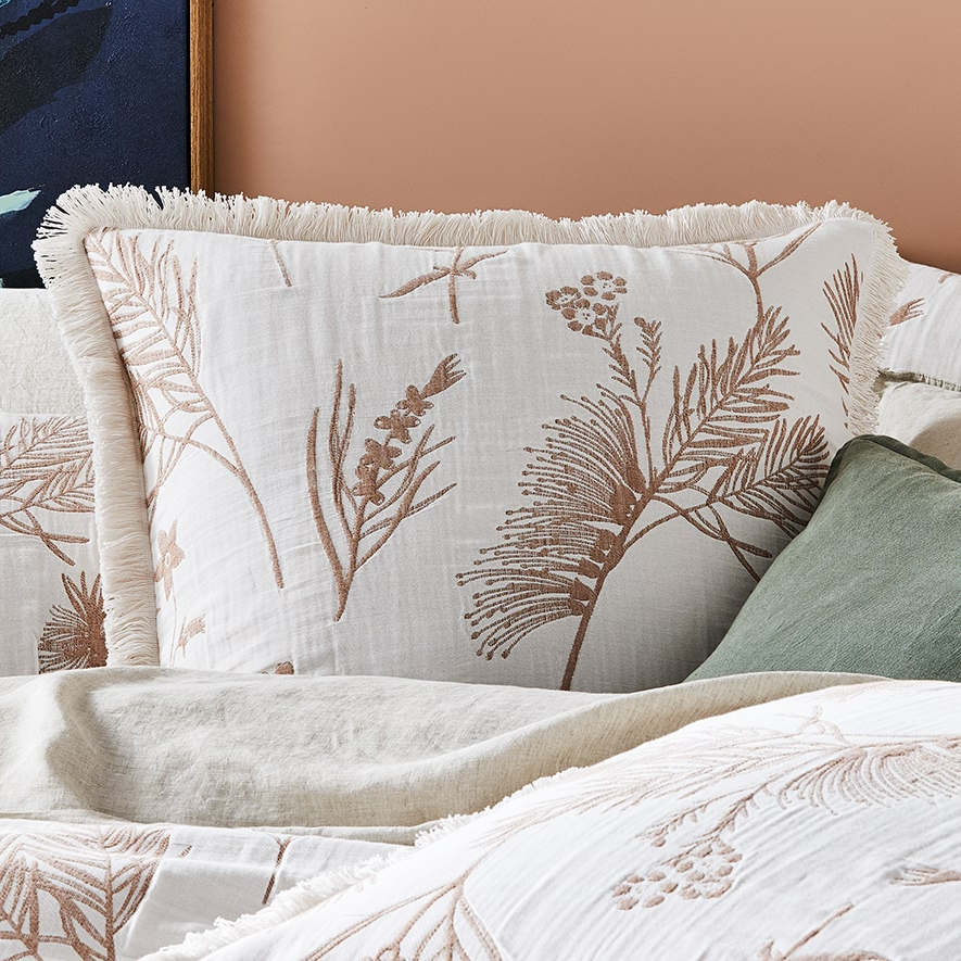 Adairs floral bed linen cushions