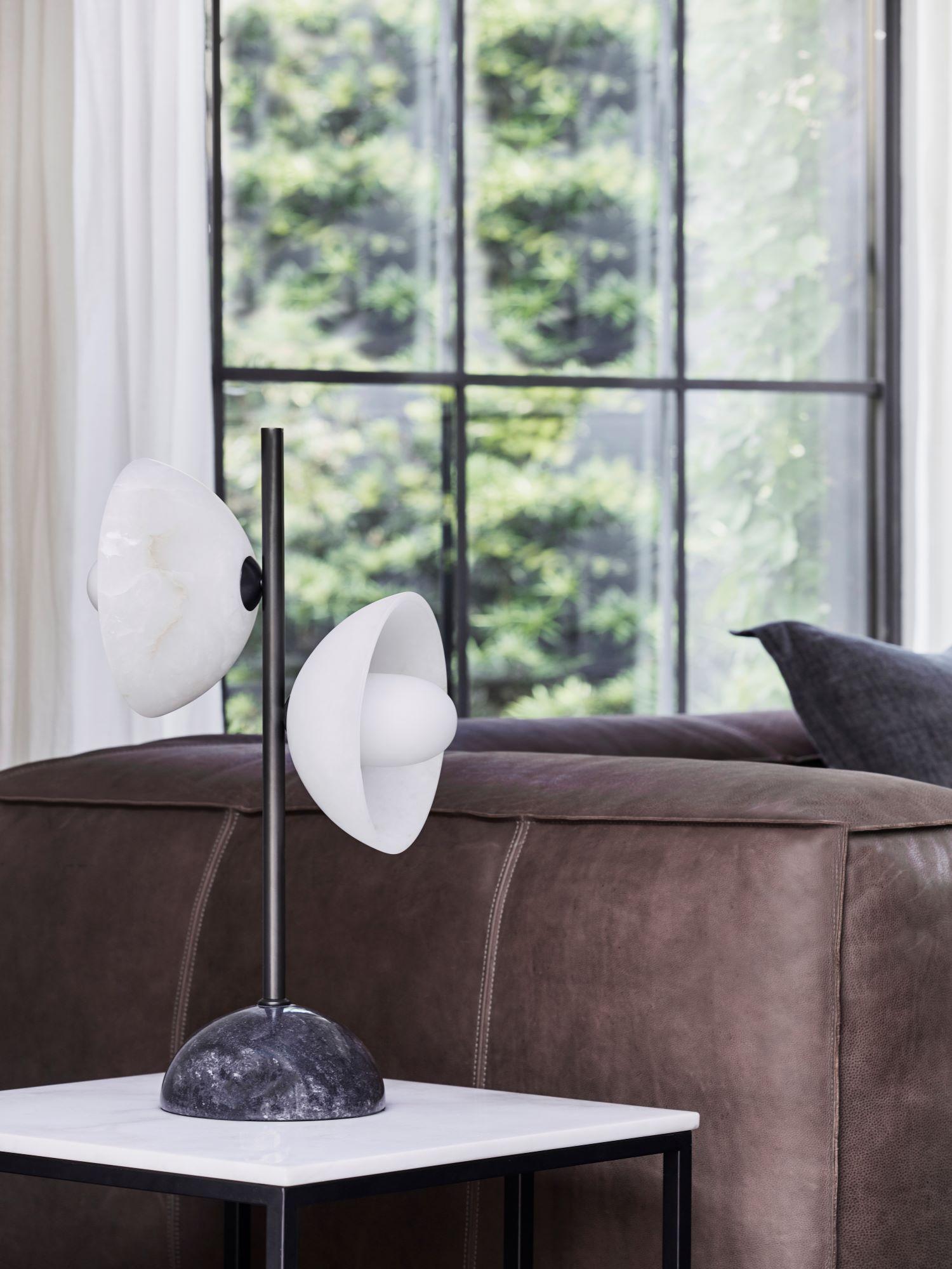 Coco Republic zephyr alabaster table lamp