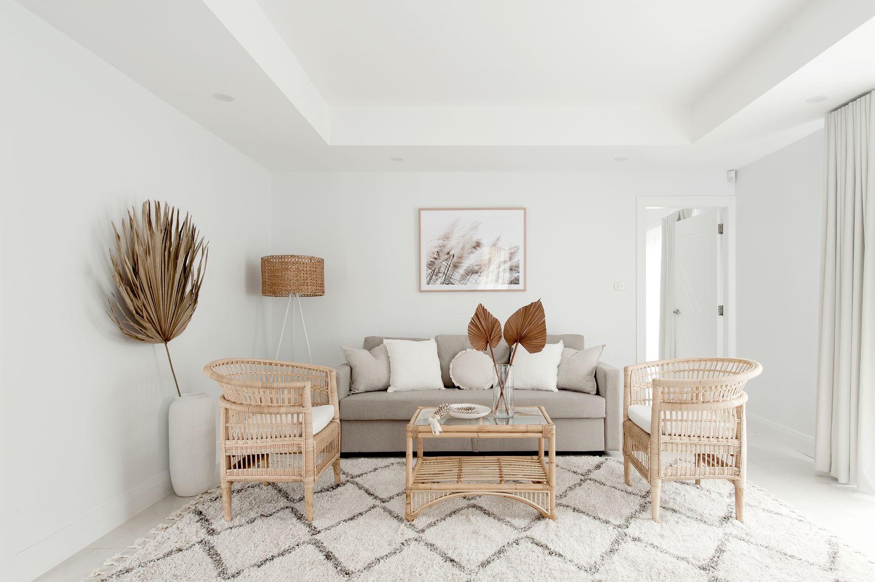 Coastal Living Room by interior designer Michelle Canny