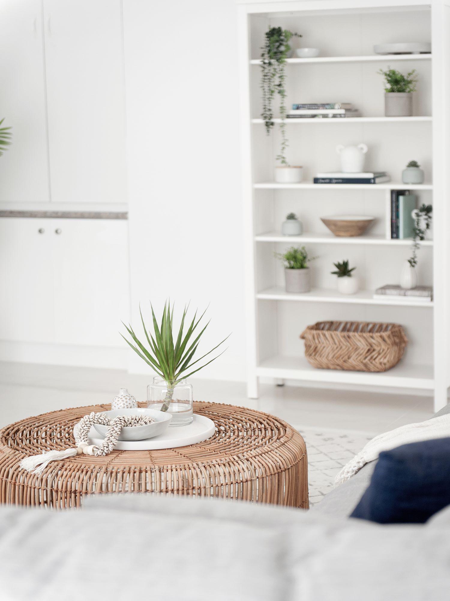 Contemporary Coastal Open Shelf Styling