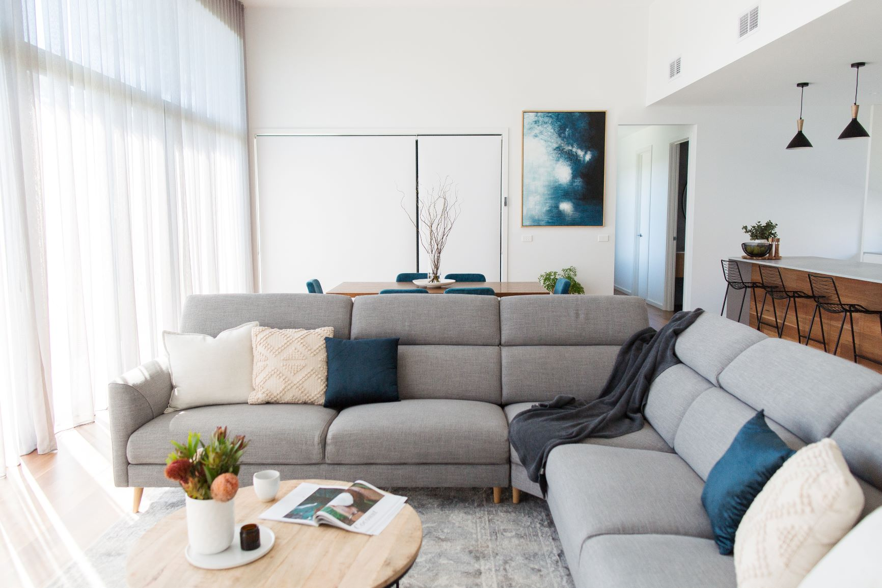 Contemporary Open Plan Living by interior designer Michelle Canny