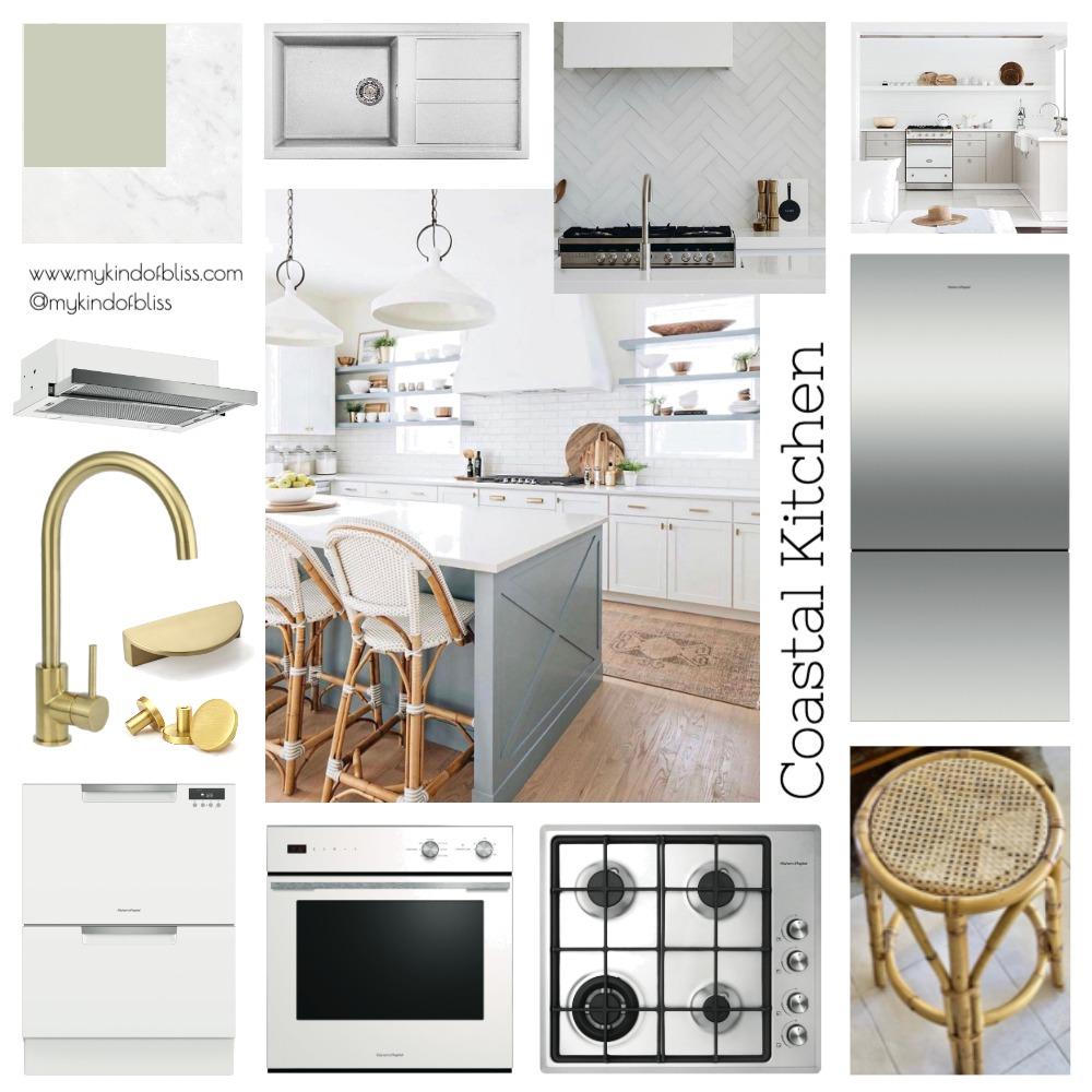 My Kind of Bliss Coastal Interior Kitchen Mood Board