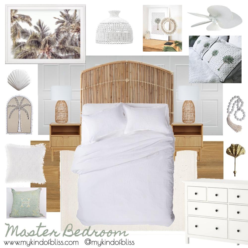 My Kind of Bliss Coastal Master Bedroom Mood Board