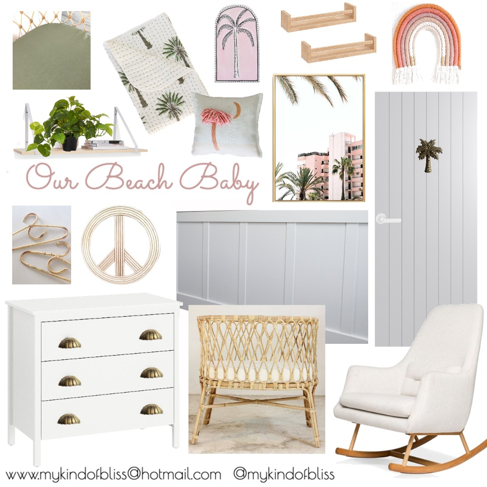 My Kind of Bliss Coastal Interior Renovation Nursery Mood Board